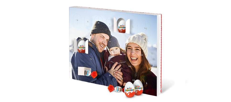 Čokoladni adventni koledar s čokoladnimi jajčki Kinder® Surprise