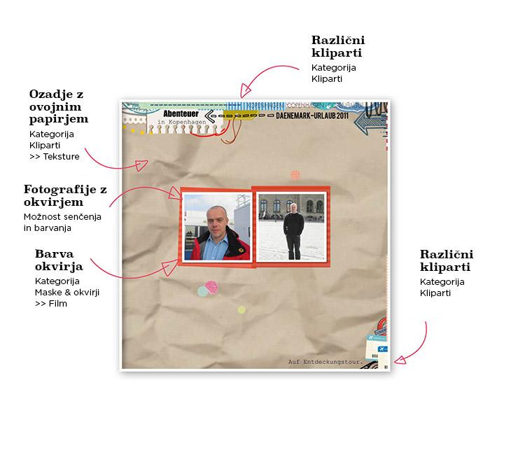 Hintergrund-Gestaltung mit Packpapier