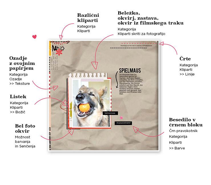 Clipart-Elemente: Filmrahmen & Briefmarken