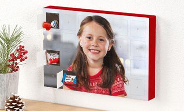 Čokoladni adventni koledar s kinder® izdelki