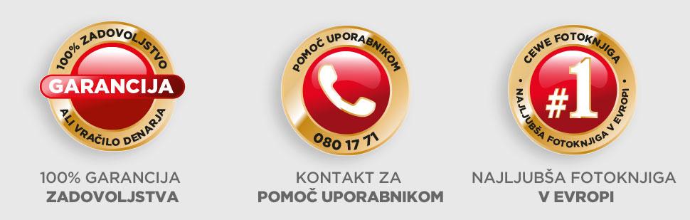 100% garancija - Kontakt - CEWE FOTOKNJIGA