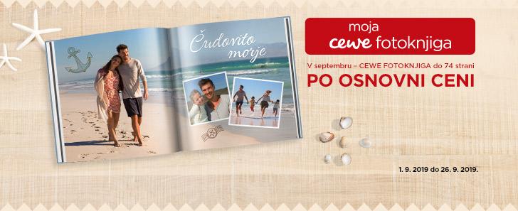 V septembru - CEWE FOTOKNJIGA do 74 strani po osnovni ceni