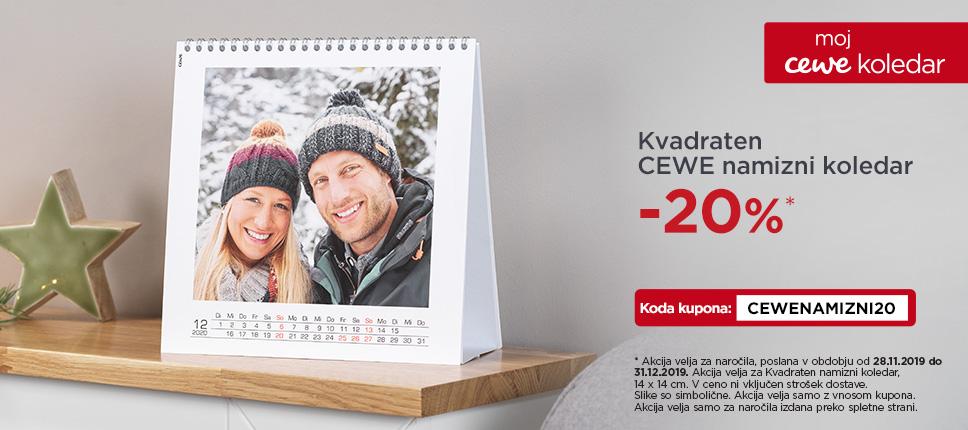 Kvadraten namizni kalendar