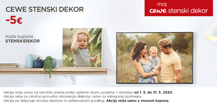 CEWE Stenski dekor -5€