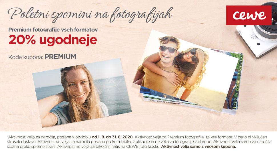 Premium fotografije vseh formatov 20% ugodneje