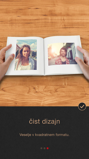 Aplikacija CEWE FOTOKNJIGA Pure - čist dizajn