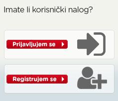 Moj korisnički račun - Prijava/Registracija