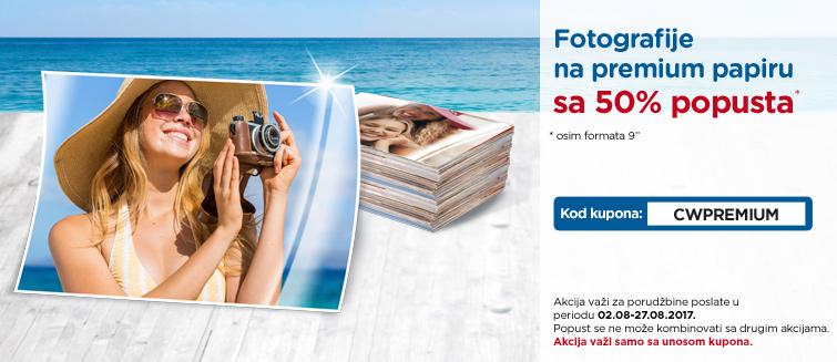 Fotografije na premium papiru sa 50% popusta