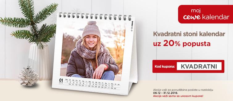 Kvadratni stoni kalendar