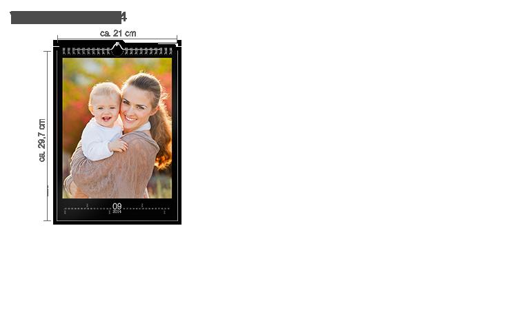 Väggkalender A4 - stående