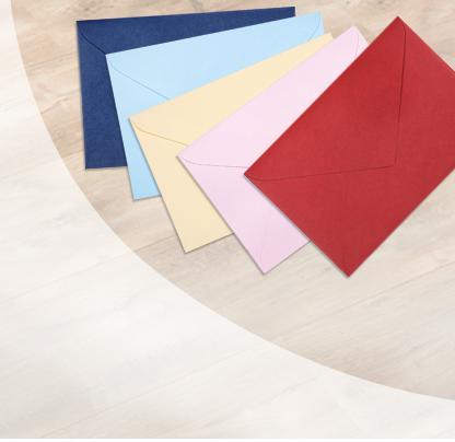 Färgglada kuvert