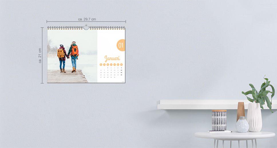 Väggkalender A4 Panorama