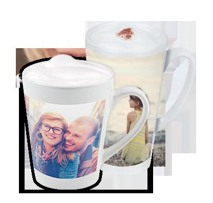 Kaffe latte-mugg
