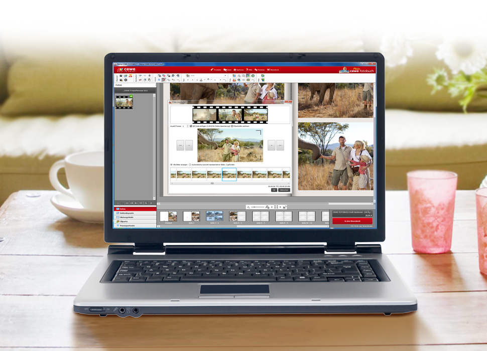 2. Välj uppsättning av din video: Enkelt omslag eller filmremsa med upp till 6 bilder