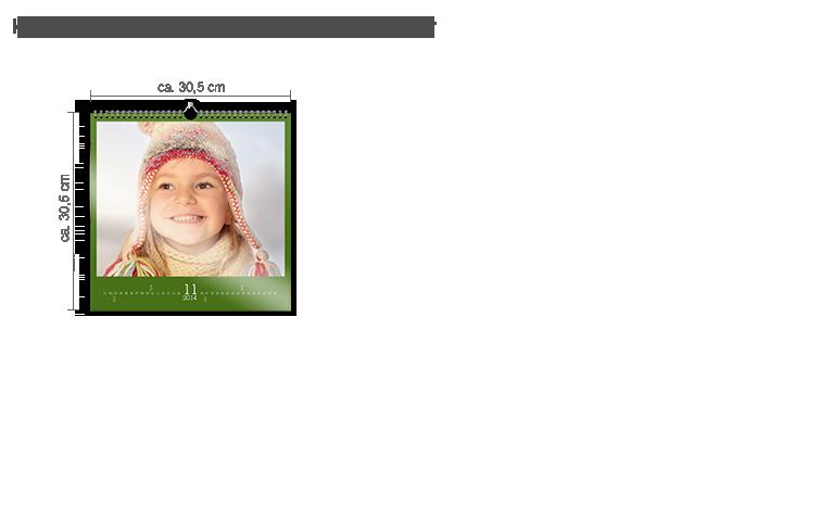 Väggkalender kvadratisk - Fotopapper