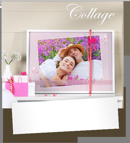 Parets kärlekshistoria som collage