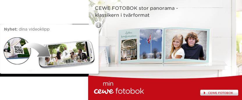 CEWE FOTOBOK stor panorama - klassikern i tvärformat. Våra ramar för din speciella dag.