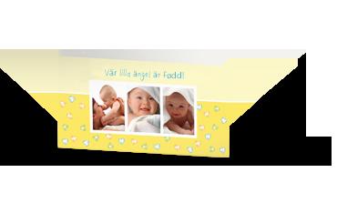 DUBBLA KORT XL LIGGANDE - Priset gäller 10 st kort och kuvert på KÖPET!