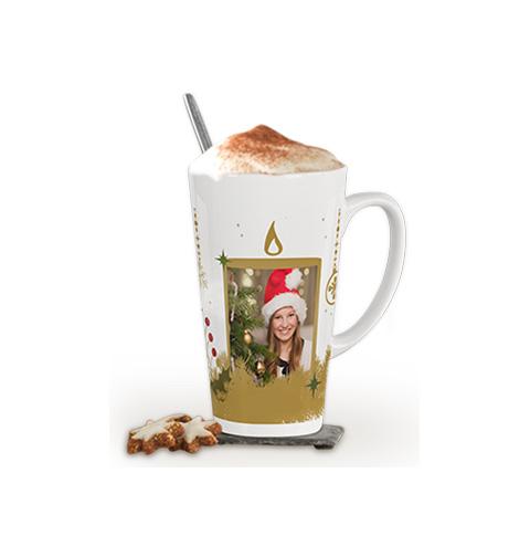 Kaffe latte-mugg stor