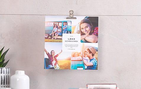 Kvadratisk deko print