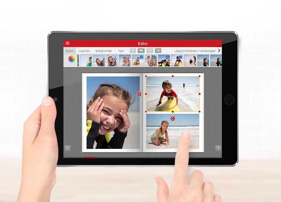 3. Vänd, vrid och anpassa storleken på dina bilder