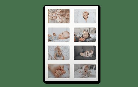 Personlige fotoklistermærker