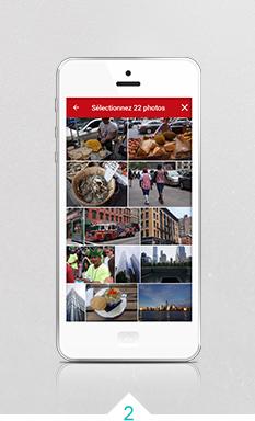 2. Choisissez 22 photos