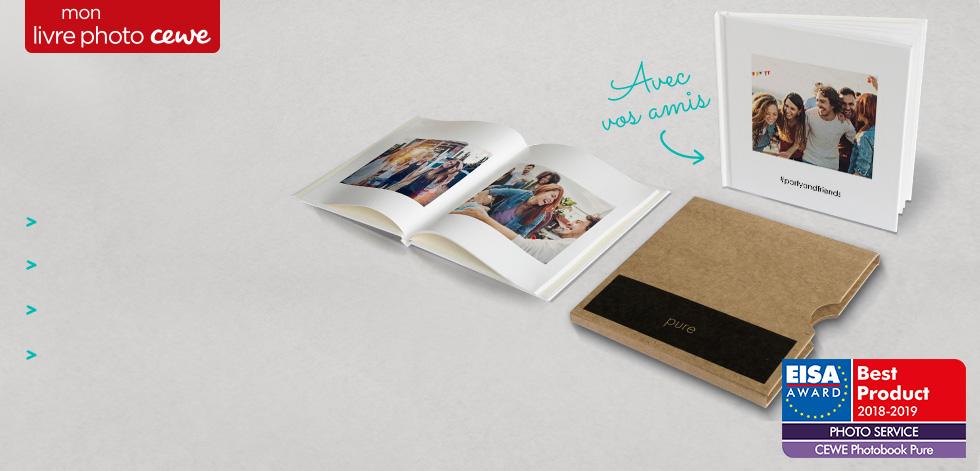 Avec l'Appli CEWE pure, créez un Livre Photo en moins d'1 minute