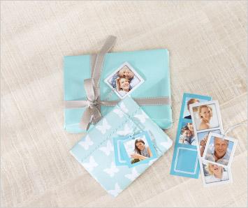 Petites cartes cadeau en pellicules de photos