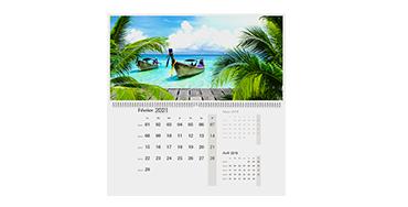 Calendrier photo A2 (double page trimestriel)