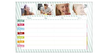 Calendrier photo familial (sur plexi)