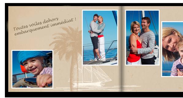 Profitez d'un large choix d'arrière-plans pour la création de votre LIVRE PHOTO CEWE.