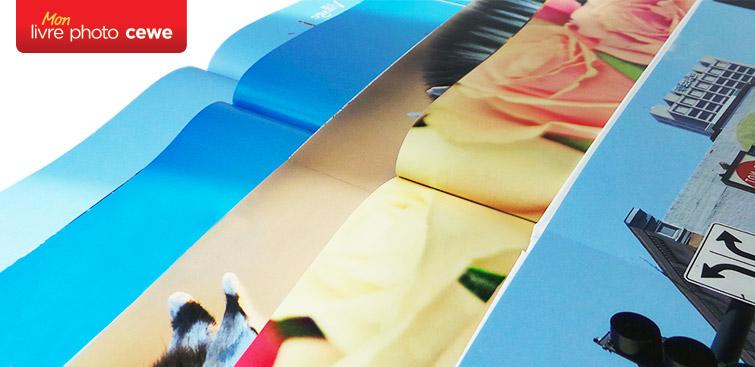 LIVRE PHOTO CEWE : Aperçu des qualités de papier