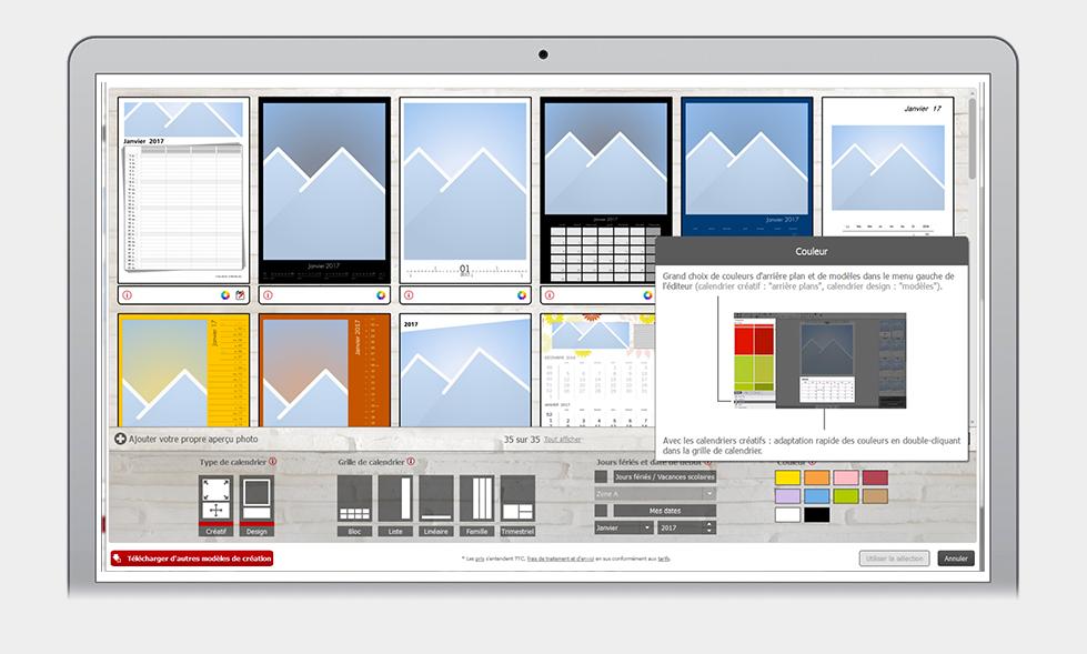Sélection de designs pour calendriers