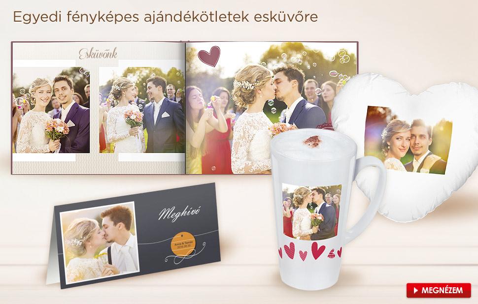 Egyedi fényképes ajándékötletek esküvőre
