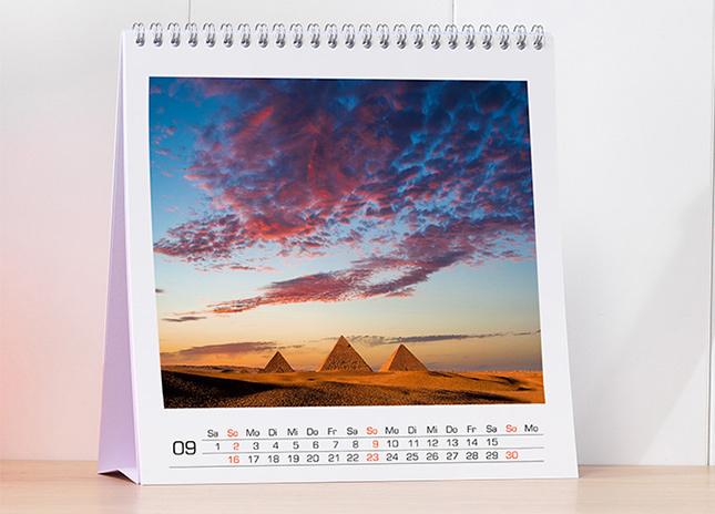 Négyzetes asztali naptár - nagy