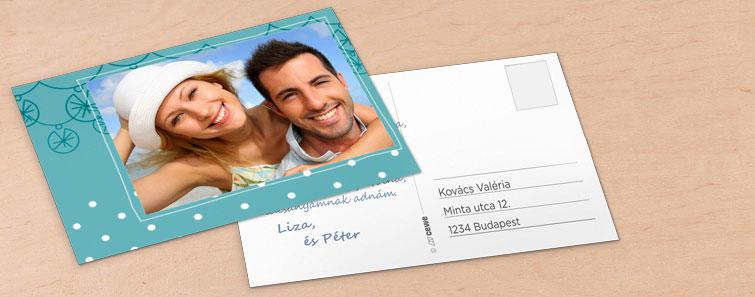 Klasszikus képeslap küldés