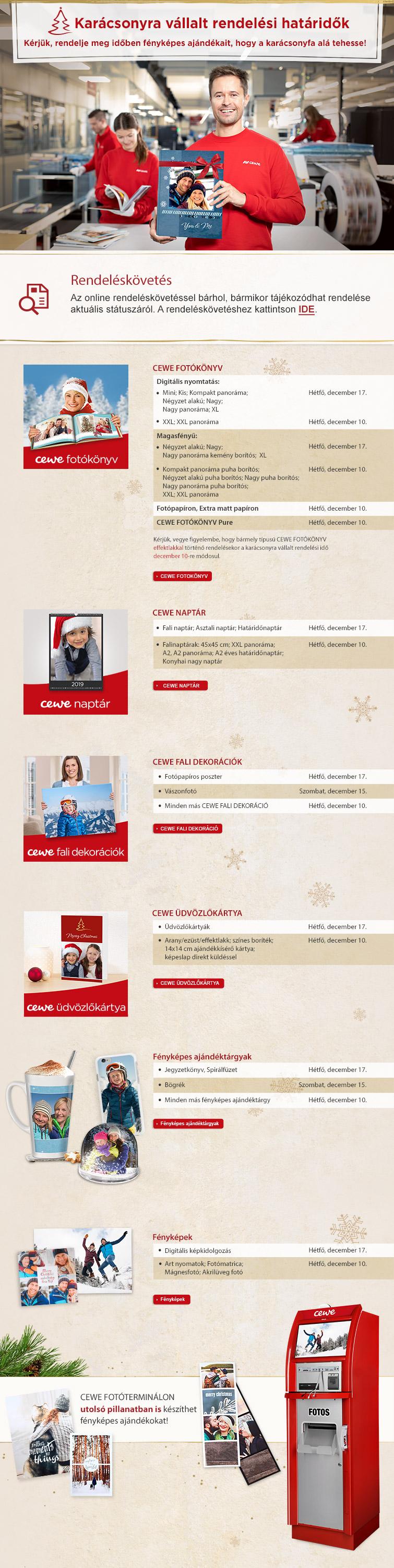 Karácsonyi rendelési határidők + azonnali nyomtatás