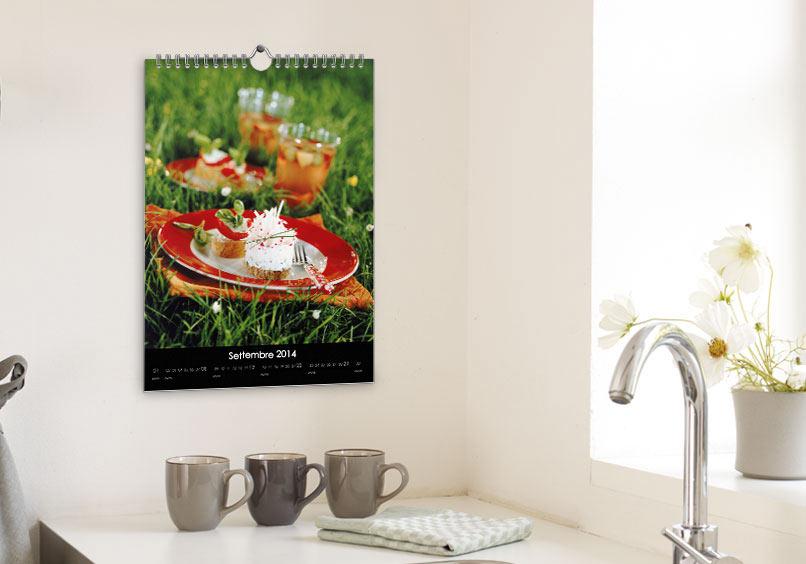 Fotolibro: Calendario da parete A4
