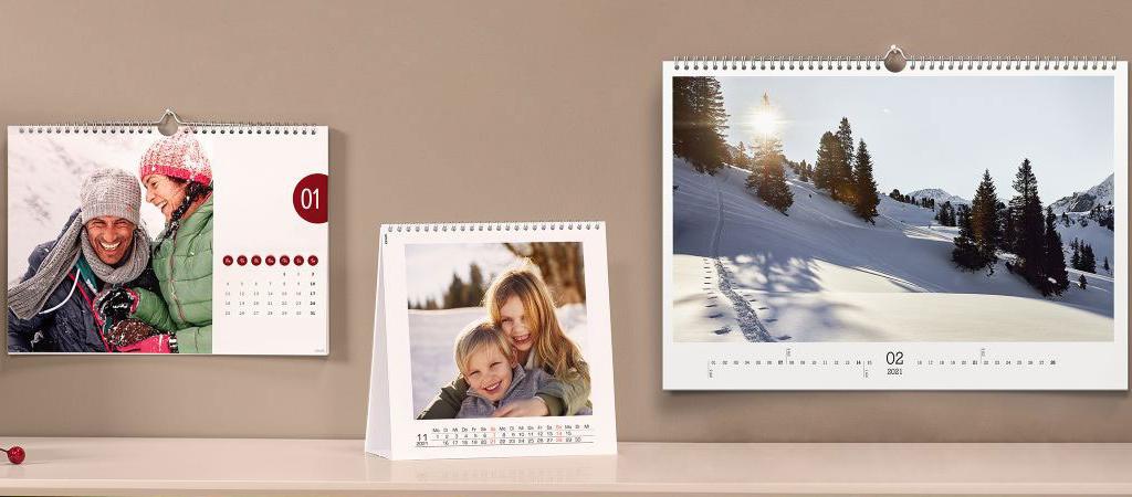 Kalender met eigen foto's