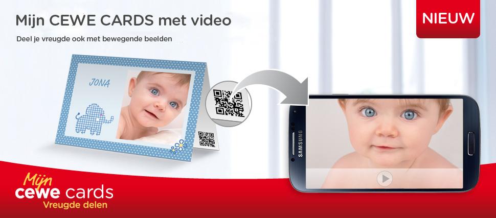 CEWE wenskaarten - wenskaarten met video