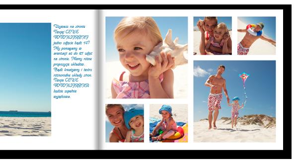 Część naszego oprogramowanie CEWE FOTOKSIĄŻKA: Liczne szablony stron które pomagają przy projektowaniu fotoksiążki.