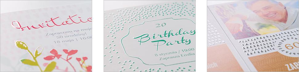 Zaprojektuj z szablonami urodzinowymi oraz uszlachetnianiem wypukłym lakierem