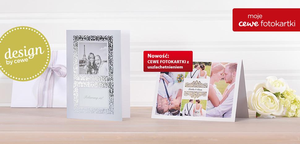 Fotokartki ślubne z szablonami