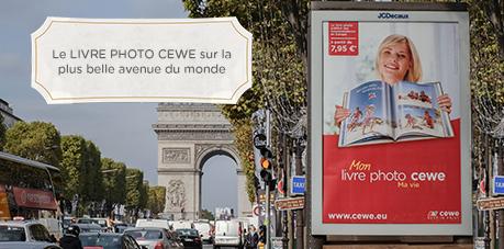 Le LIVRE PHOTO CEWE sur la plus belle avenue du monde