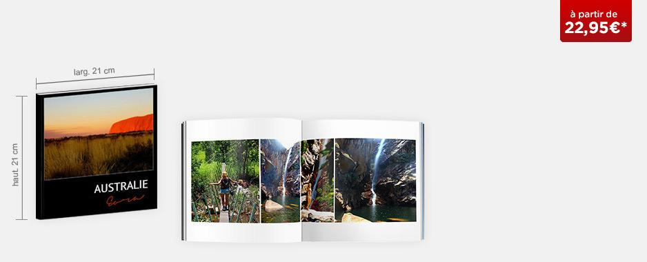 Livre photo Carré : couverture souple