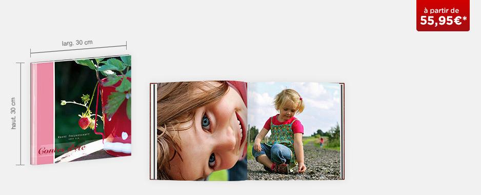 Livre photo grande taille XL : papier mat Premium