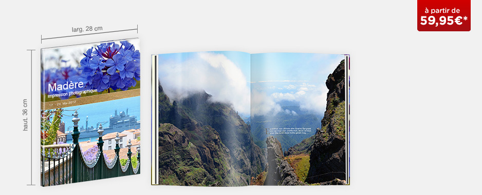 Livre photo XXL portrait : papier brillant