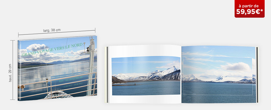 Livre photo XXL Panorama : couverture rigide