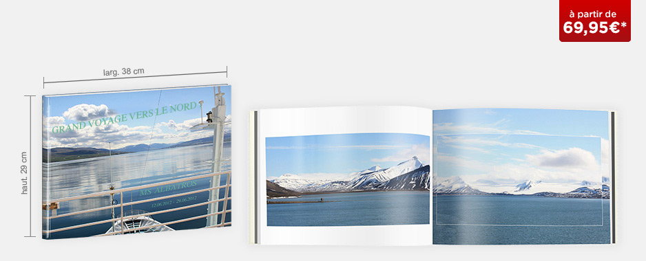 Livre photo XXL Panorama : papier brillant